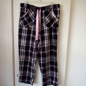 Plaid lounge pants size S